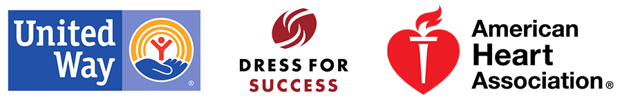 United Way | Dress for Success | American Heart Association